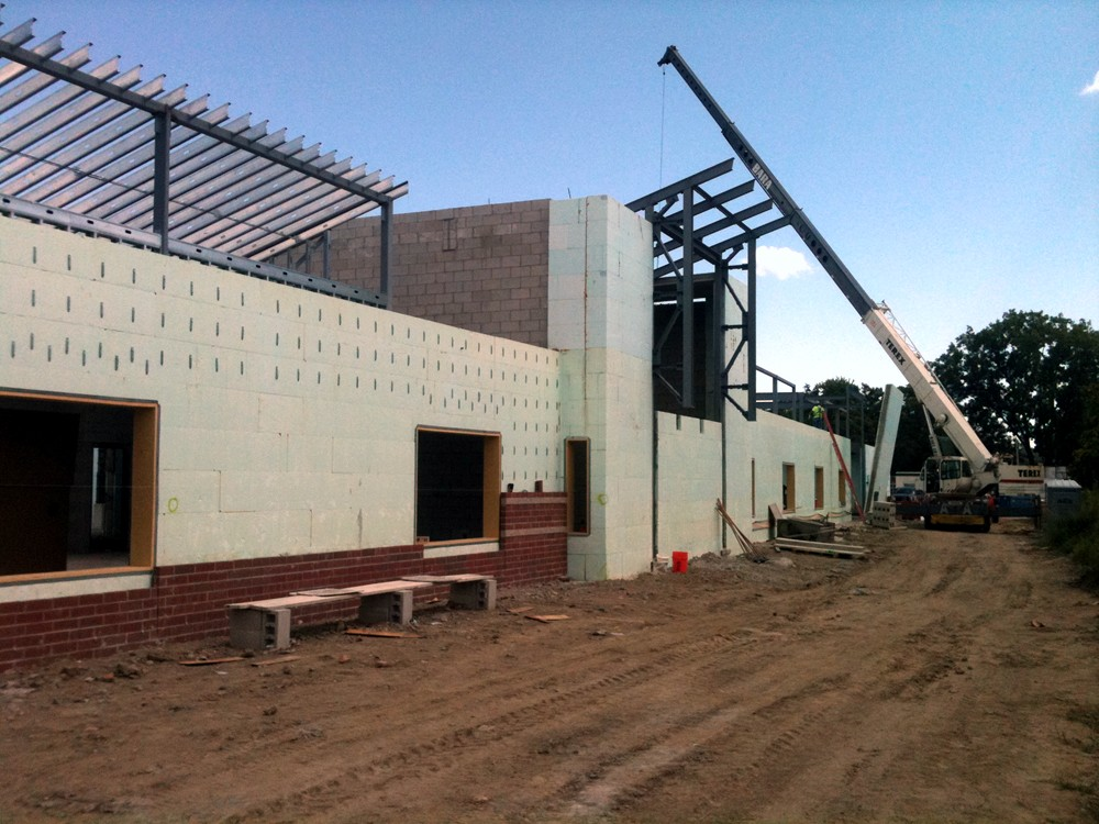 Commercial Construction of Schools Using Insulated Concrete Forms - TurtleWall.com