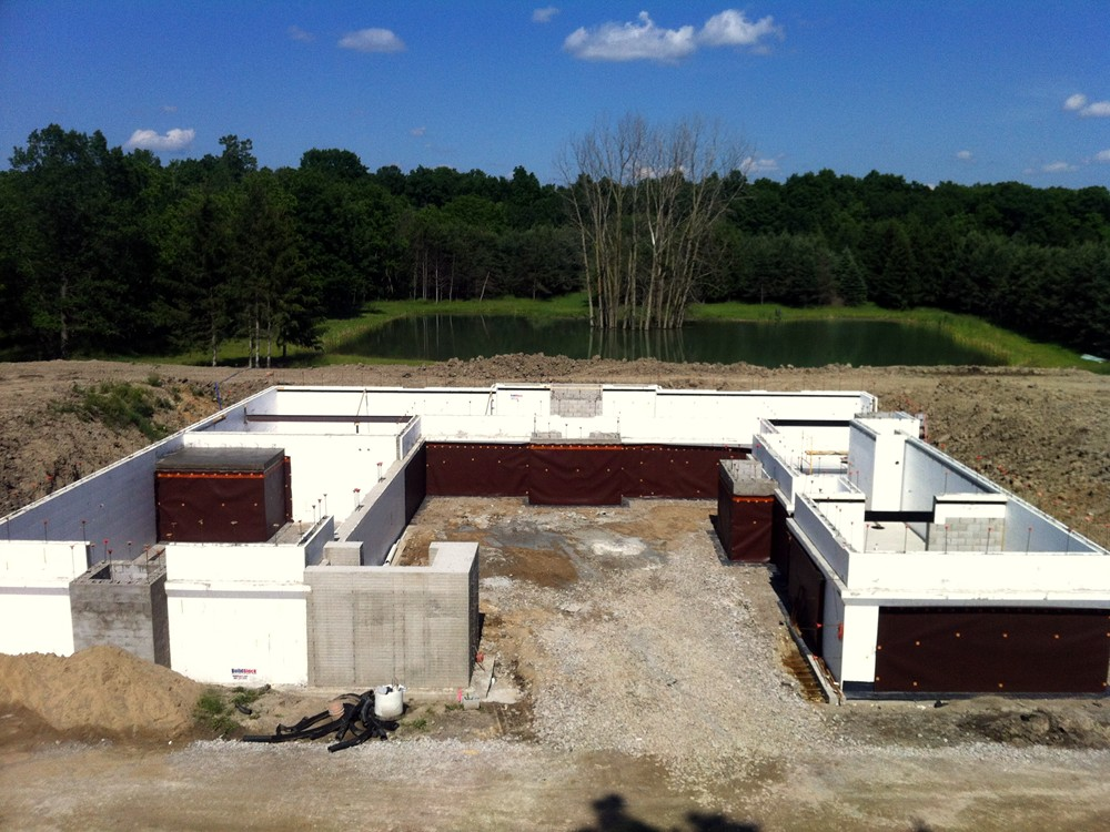 House Foundation Built with ICF Blocks by Turtle Wall ICF Construction Company of Michigan