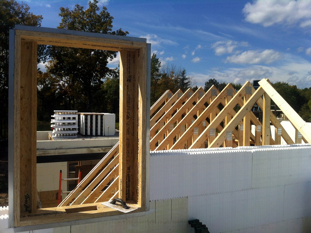 Custom Home Framing with ICF Blocks by Turtle Wall of Grand Rapids MI - TurtleWall.com
