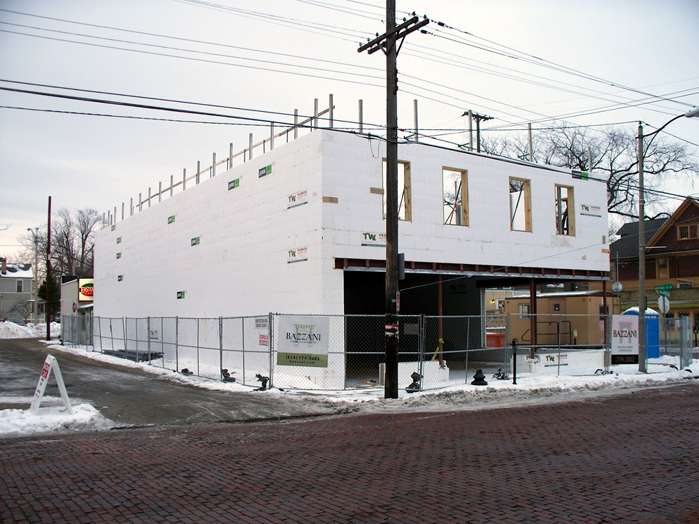 Retail Building Construction with ICF by Turtle Wall of Michigan